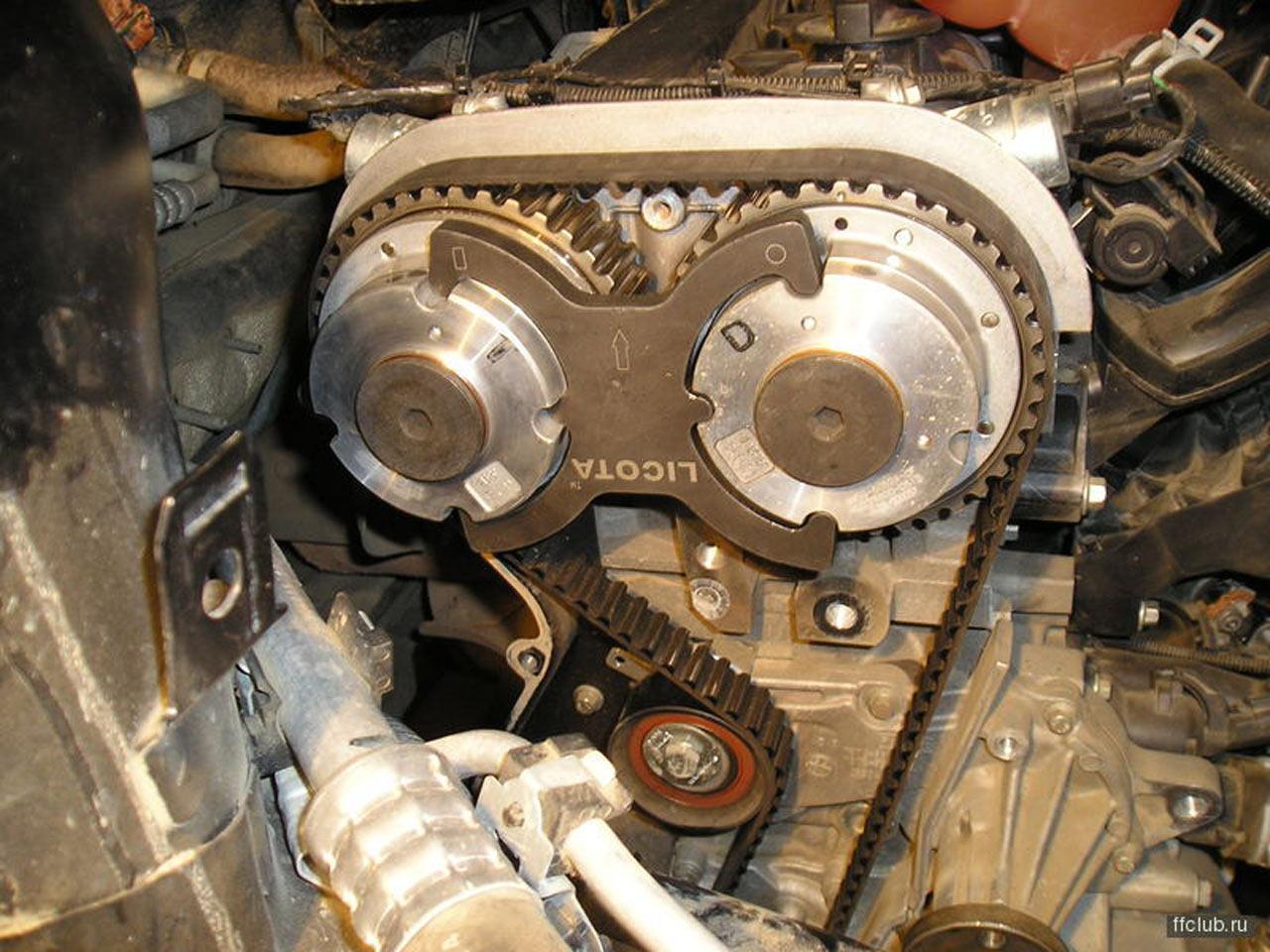 Схема замена ремня грм на форд фьюжен